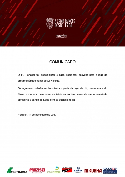Comunicado do F.C. Penafiel