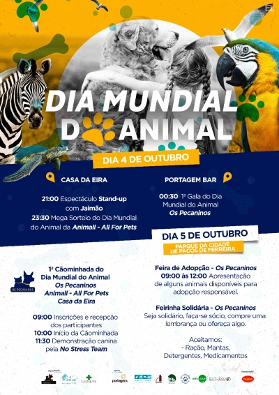 PAÇOS DE FERREIRA -  Dia Mundial do Animal